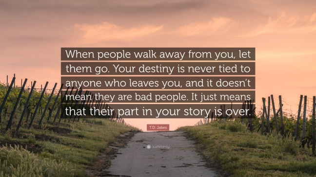 when people walk away